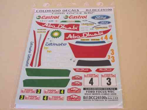 Full Decal Set für FORD FOCUS WRC RALLY MONTE CARLO 2008