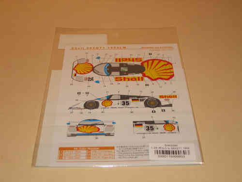Shell Porsche 962 GT1 LeMans 1994 Decal