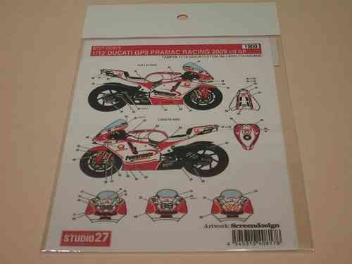 Pramac Racing Ducati GP9 2009 US GP Decal