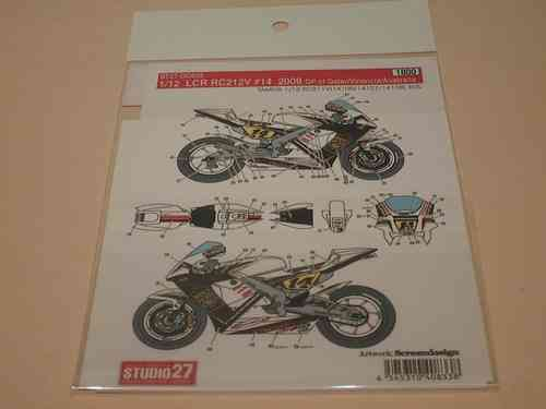LCR Honda RC212V #14 2009 Decal