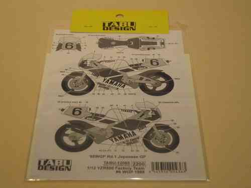 Factory Team Yamaha YZR500 #6 Decals