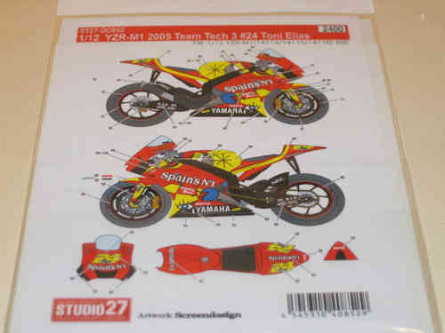 Tech3 Yamaha YZR-M1 #24 Toni Elias Decal