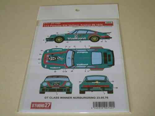 Vaillant Porsche 934 Decal